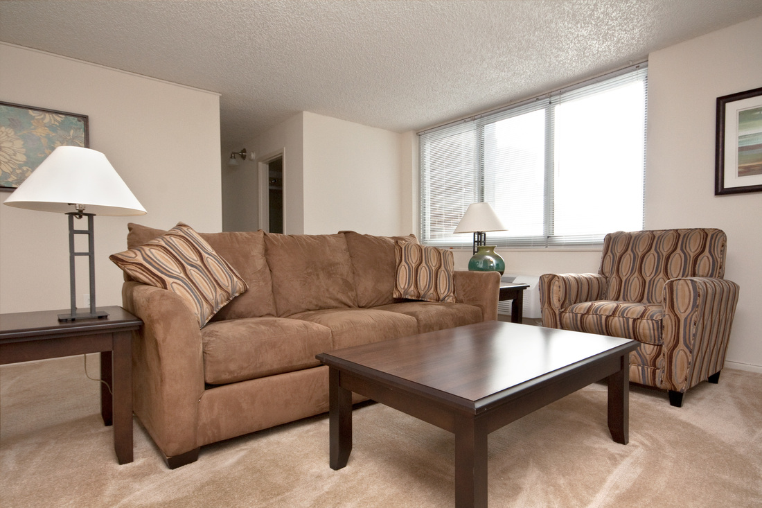 1500 locust in city center corporate housing executive for Normal living room designs